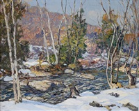 winter harmony (winter evening) by edward willis redfield