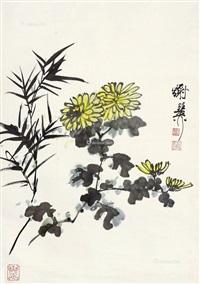 双清图 立轴 纸本 by xie zhiliu