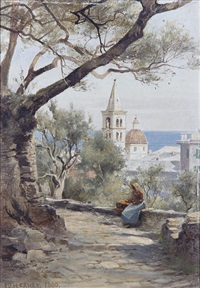 untitled (italian view) (+ another; pair) by edward henry fahey