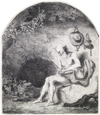 st. jerome in the cave by ferdinand bol