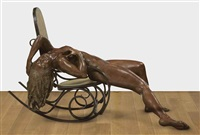 woman on a rocking chair by darío morales