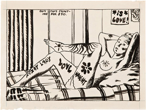 buy this painting for 50 by raymond pettibon