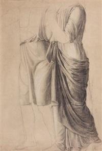 étude de drapés à l'antique (study) by jean baptiste joseph wicar