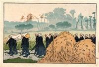 enterrement à trestraou (perros guirec) by henri rivière
