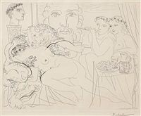 minotaure caressant une femme, from: la suite vollard by pablo picasso