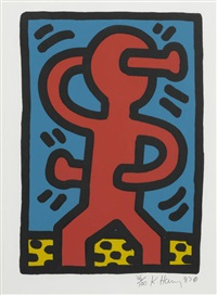 untitled (set of 4) by keith haring