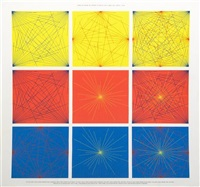 lines in color on color to points on a grid (title page) by sol lewitt