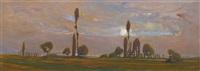 la plaine à laconnex (genève) by jean philippe edouard robert