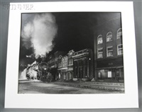 main line on main street, norfolk, west virginia by o. winston link