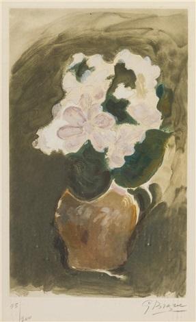 les fleurs violetes by georges braque