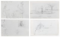 untitled (two double-sided works) by john henry twachtman