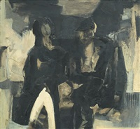 two seated figures, no.1 by anthony whishaw
