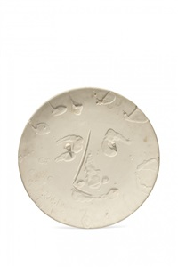visage, plat rond, 17 janvier 1965 by pablo picasso
