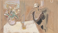 woman at a table by alexis paul arapov