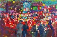 harry's wall street bar by leroy neiman
