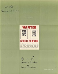a poster within a poster/wanted by marcel duchamp
