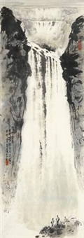 庐山三叠泉 by zhang wenjun