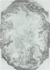l'apothéose d'un saint, projet de plafond by cosmas damian asam