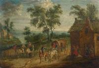 diligence à l'entrée du village by mathys schoevaerdts