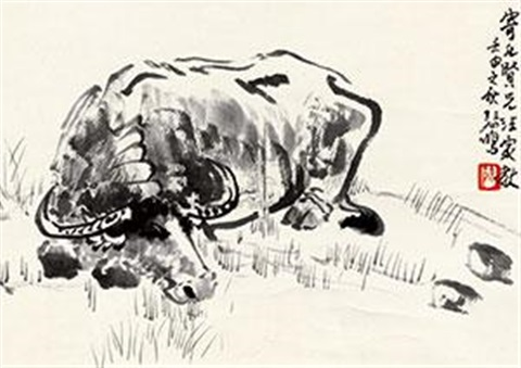 水牛图 the buffalo by xu beihong