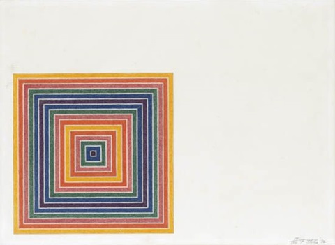 louisiana lottery co from multicolored squares i by frank stella