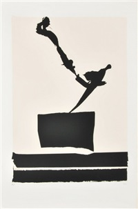 untitled, plate 4 from the african suite by robert motherwell
