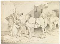 chevaux de ferme by théodore géricault
