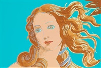 venus, from: details of renaissance paintings (sandro botticelli, birth of venus, 1482) by andy warhol