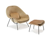 sessel womb-chair 70 mit ottoman 74 by eero saarinen