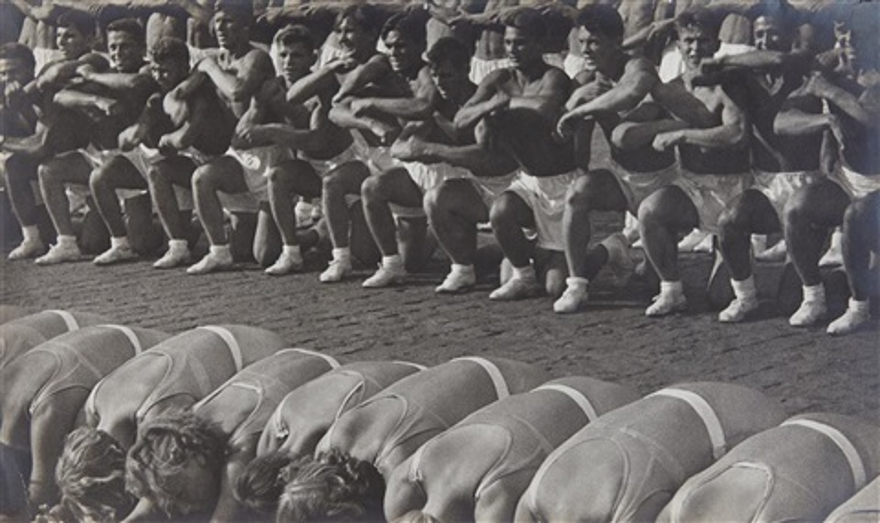 rythmic gymnastics on red square by alexander rodchenko