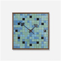 tile wall clock, model 2232 by george nelson & associates
