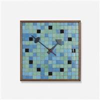 tile wall clock, model 2232 by george nelson & associates