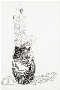 from 'flowers' (black and white) by andy warhol