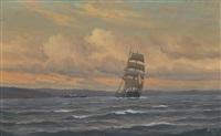 seilskute og dampskip by zackarais martin aagaard