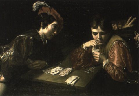 the cheat at cards by jean valentin de boulogne