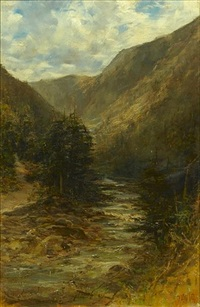 the rocky mountains, british columbia, canada (pair) by francis abel william taylor armstrong