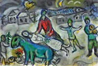 fête au village by marc chagall