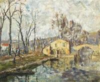 le canal à béziers by marcel azema-billa