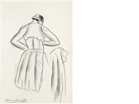 a dancer dressing (+ 2 others; 3 works) by dame laura knight