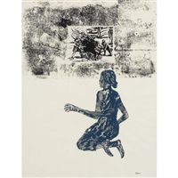 untitled (kneeling woman) by nancy spero
