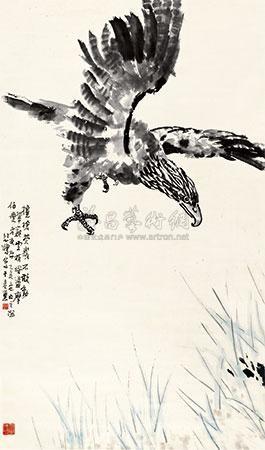 雄鹰图 (the eagle) by xu beihong
