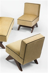 pair of chairs from chandigarh, india by pierre jeanneret