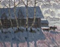 ferme sous la neige by vladimir bobrov