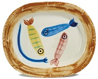 four polychrome fishes by pablo picasso