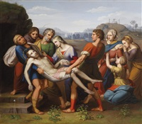 grablegung christi (after raphael) by josef arnold the elder