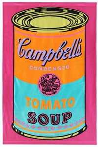 campbell's tomato soup banner by andy warhol