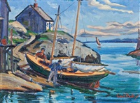 preparing the boat by earl bailly