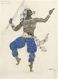 costume design for ballet hindou by leon bakst