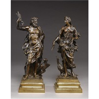 figures of jupiter and juno (pair) by michel anguier