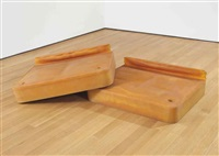 untitled (grey bed) (in 2 parts) by rachel whiteread